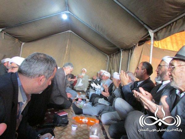 حضور مسئولین استانی در مراسم سومین روز درگذشت والده امام جمعه اهل سنت گنبد + تصاویر