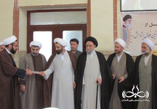 آیین تجلیل از صاحبین اثر و اساتید پژوهش در حوزه علمیه امام خمینی(ره) + تصویری