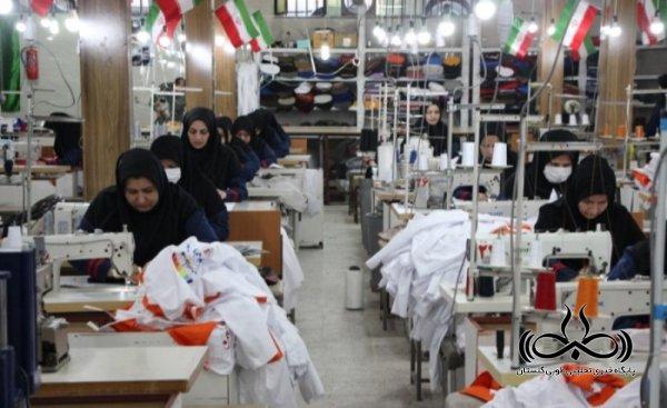 اشتغال به کار 70 نفر در کارگاه پوشاک رحیمی با تولید روزانه 500 دست لباس