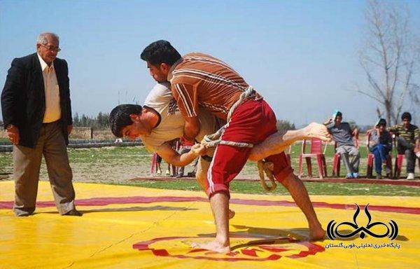 برگزاری مسابقات استانی کشتی سنتی با شال در گرگان