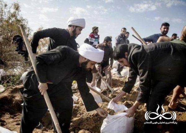 وقتی روحانیون به داد مردم سیل زده میرسند / نابودی کامل زمینهای کشاورزی/ لزوم رسیدگی فوری مسئولان