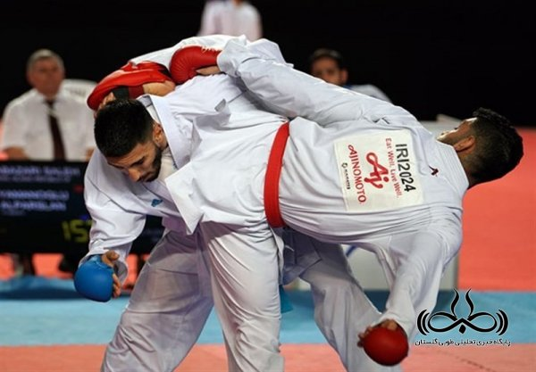 گلستان برسکوی نخست مسابقات کاراته قهرمانی کشور ایستاد